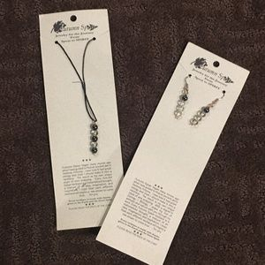 Jewelry - NWT HANDCRAFTED NECKLACE AND EARRING SET